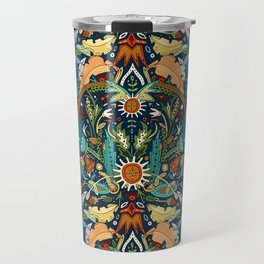Victorian damask midnight Travel Mug