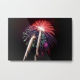 Palm Trees or Fireworks Metal Print