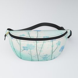 Turquoise Field of Flowers Fanny Pack
