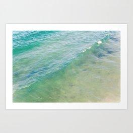 Peaceful Waves Art Print