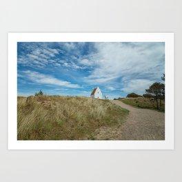 Sand covered Church in Skagen, Denmark Art Print