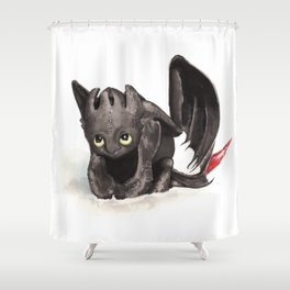 Toothless is cute! Shower Curtain
