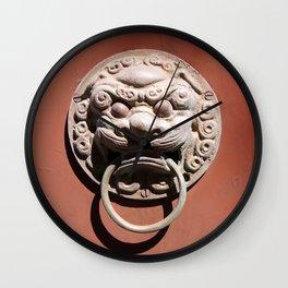 Chinese Door Knocker Wall Clock