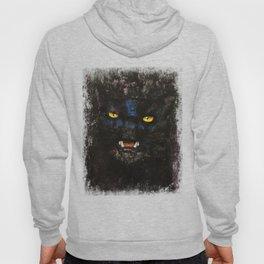 Black on Black Cat Hoody