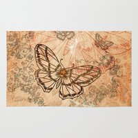 butterflies Area & Throw Rugs featuring Butterflies by nicky2342