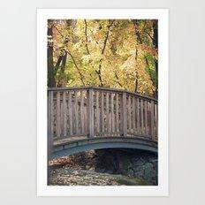 An Autumn Walk in the Park Art Print