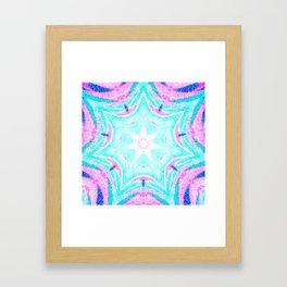 Pink & Blue Star Explosion Light Framed Art Print