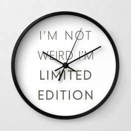 I'm Limited Edition Wall Clock