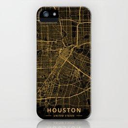 Houston, United States - Gold iPhone Case