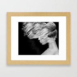 Fishing XI. Digital collage Framed Art Print