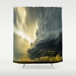 Supercell - Massive Storm Over the Great Plains Shower Curtain