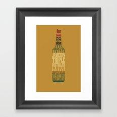 Typographical Jameson Framed Art Print