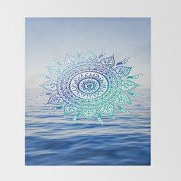 Sea Mandalla Throw Blanket