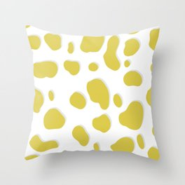 Chartreuse Feline Throw Pillow