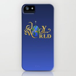 Joy to the World Golden iPhone Case