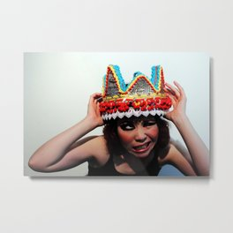 Don't You Dare Touch My Crown Metal Print