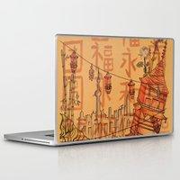china Laptop & iPad Skins featuring China  by Nogah