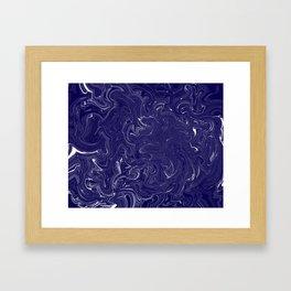 Blue and White Hurricane Framed Art Print