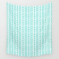 dot Wall Tapestries featuring Aqua Dot by Vikki Salmela