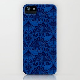 Stegosaurus Lace - Blue iPhone Case
