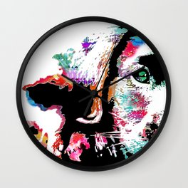 riley the lab pup Wall Clock