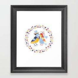 Wedding birds Framed Art Print