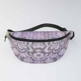 Abstract floral ornament on mosaic background Fanny Pack
