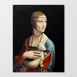 The Lady with an Ermine - Leonardo da Vinci Canvas Print