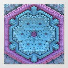 Pastel Snowflake Canvas Print