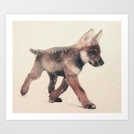 Little Ones: Wolf Art Print