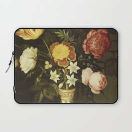 Ambrosius Bosschaert - Still life with flowers in a wan-li vase Laptop Sleeve