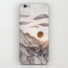 Lines in the mountains iPhone & iPod Skin