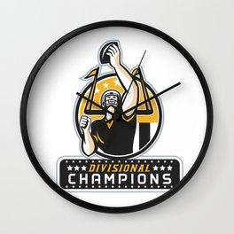 American Football Divisional Champions Retro Wall Clock