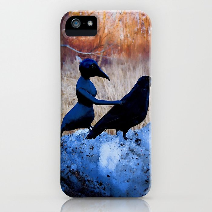 Crow People iPhone Case