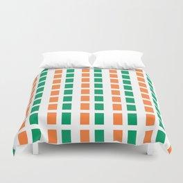 flag of ireland 2-ireland,eire,airlann,irish,gaelic,eriu,celtic,dublin,belfast,joyce,beckett Duvet Cover