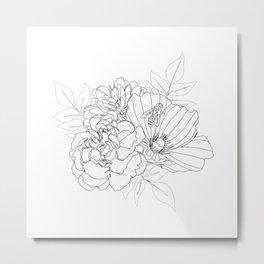 Floral Arrangment Metal Print
