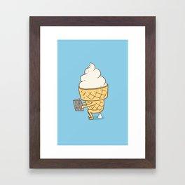Everyone Poops (Blue) Framed Art Print