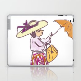Grandma in the Rain Laptop & iPad Skin