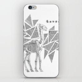 Skeletal Giraffe iPhone Skin