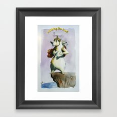 Looking for ice Framed Art Print