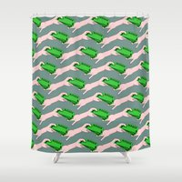 wallet Shower Curtains featuring Money by mailboxdisco