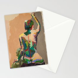 Girl's Back Stationery Cards