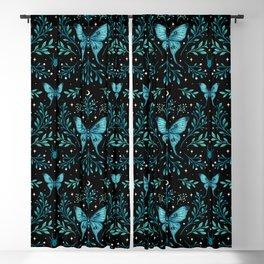 Mystical Luna Moth - Turquoise Blackout Curtain