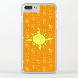Hero of Light Clear iPhone Case
