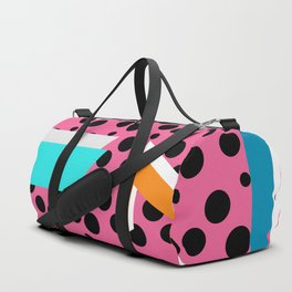 Bright memphis shapes Duffle Bag