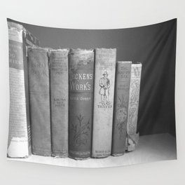 Old Worn Books Wall Tapestry