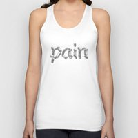 pain Tank Tops featuring Pain by Emma Harckham