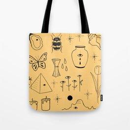Yellow Flash Sheet Tote Bag