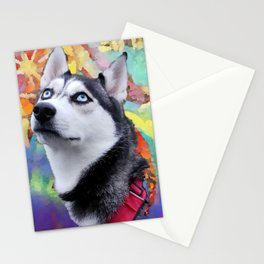 Dreaming Husky Stationery Cards