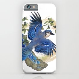 Blue Jay and Hauyne Crystals iPhone Case